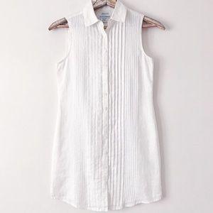 Island Company NWT Aegean White Linen Beach Dress